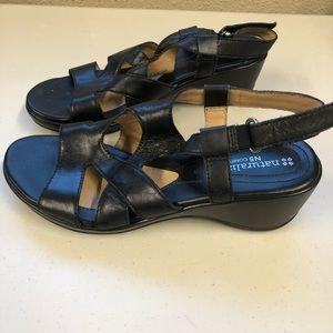 Naturalizer Black Leather Sandals